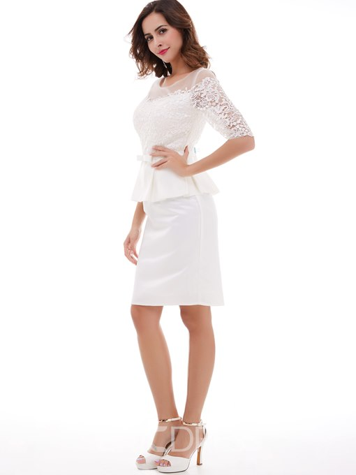 Ericdress Half Sleeves Scoop Neckline Knee-Length Cocktail Dress