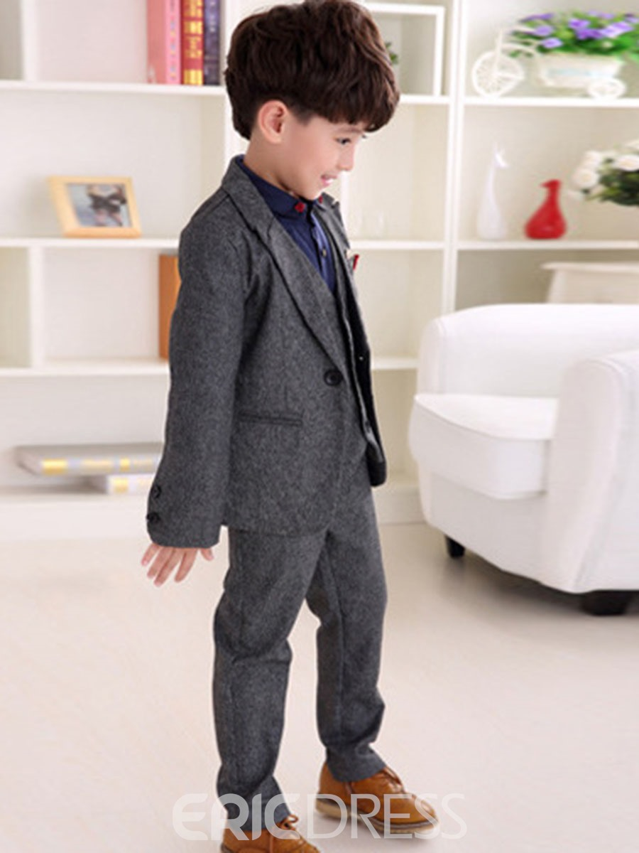 Ericdress Thickening Solid Color 3-Pcs Boys Dress Suit Set