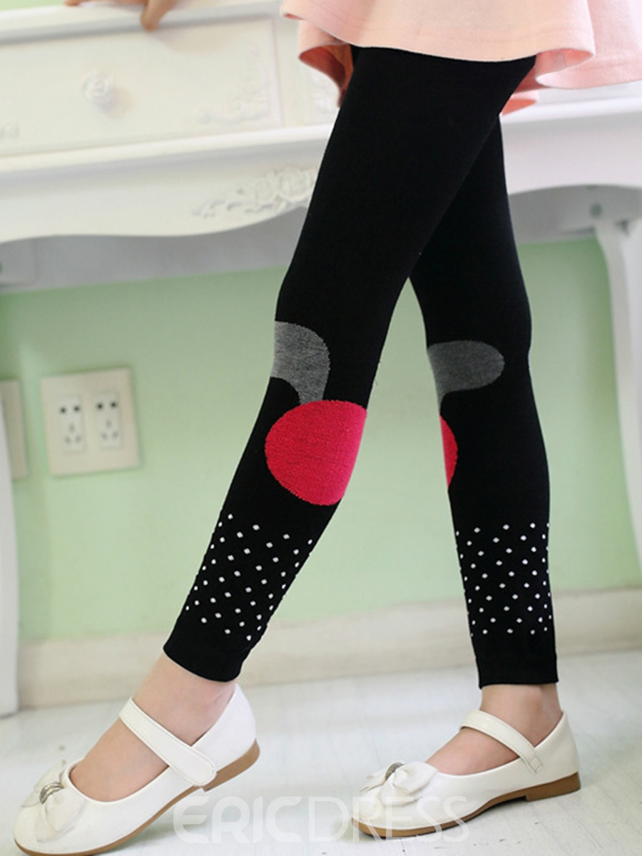 Ericdress Color Block Polka Dots Girls Leggings