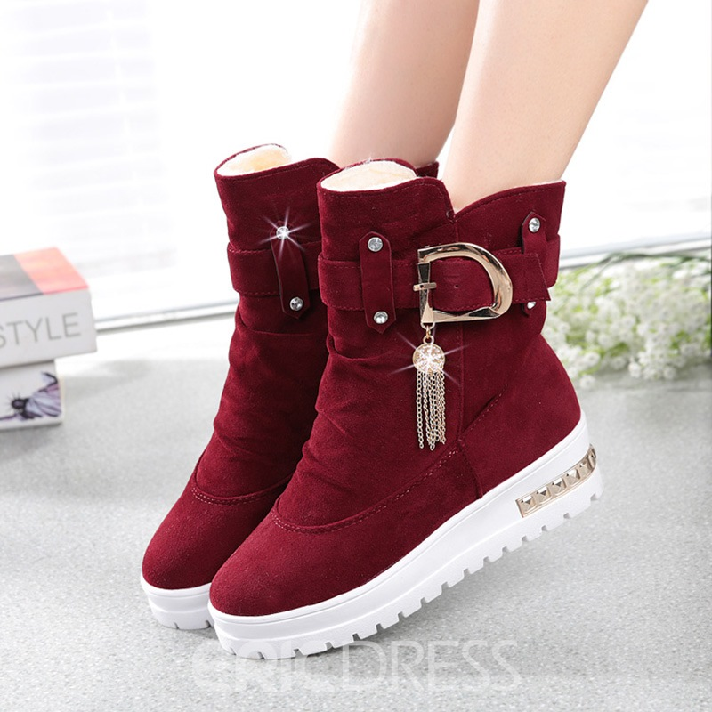 Ericdress Charming Rhinestone Tassels Ankle Boots
