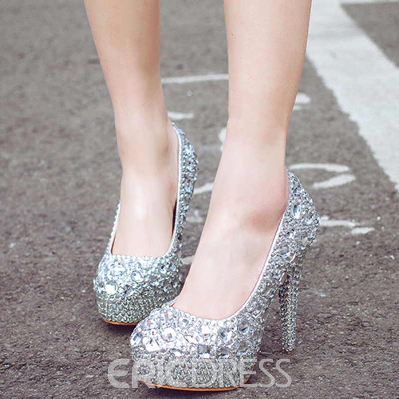 Ericdress Rhinestone Platform High Heel Wedding Shoes