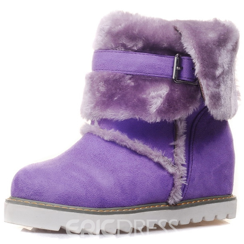 Ericdress Bright Color Snow Boots