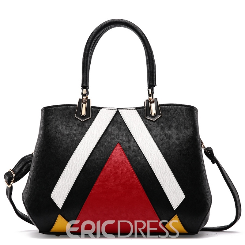 Ericdress Geometric Patchwork Handbag