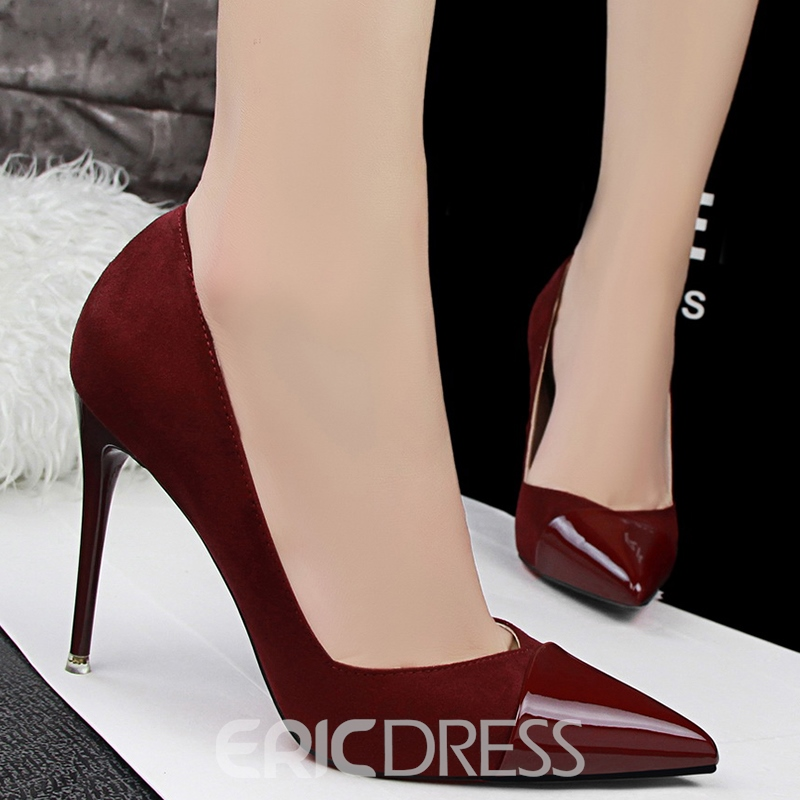 Ericdress Sexy Patchwork Point Toe Pumps