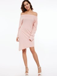 Ericdress Off Shoulder Plain Asymmetrical Womens Dresses фото