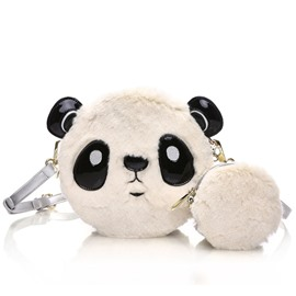 Ericdress Original Fuzzy Panda Crossbody Bag