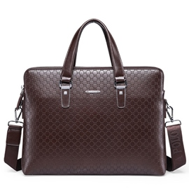 Ericdress Pure Color Embossed Men's Bag