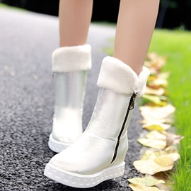 Ericdress Glittering Side Zip Snow Boots