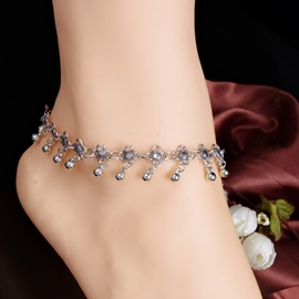 Ericdress Water Drop Tassel Hollow-Out Anklet