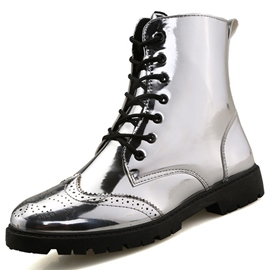 Ericdress Patent Leather Thread High Cut Men's Boots