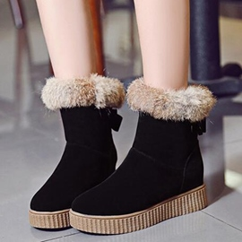 Ericdress Pretty Furry Suede Snow Boots