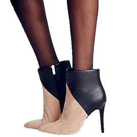 Ericdress Elegant Lady Color Block Point Toe High Heel Boots