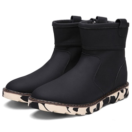 Ericdress Warm Plain Round Toe Men's Snow Boots