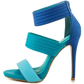 Ericdress Color Block Strappy Open Toe Platform Stiletto Sandals