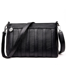 Ericdress Casual Stripe Patchwork Crossbody Bag