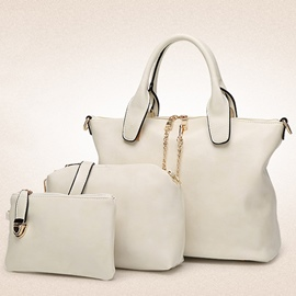Ericdress Solid Color Metal Decorated Handbags(3 Bags)