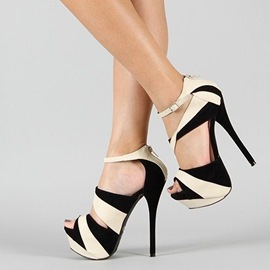 Ericdress Charming Color Block Platform Stiletto Sandals
