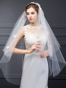 Ericdress High Quality Flowers Bridal Veil