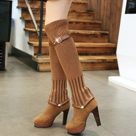 Ericdress Eurameric Patchwork Thigh High Boots