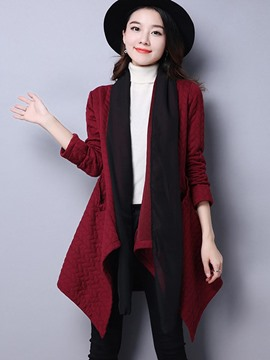 Ericdress Loose Irregular Hem Trench Coat