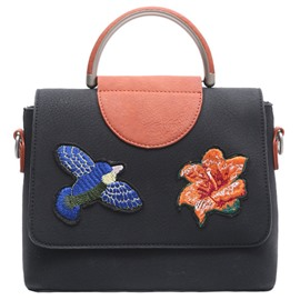 Ericdress Vintage Color Block Embroidery Handbag