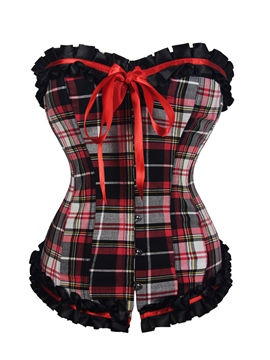 Ericdress Plaid Bowknot Patchwork Corset