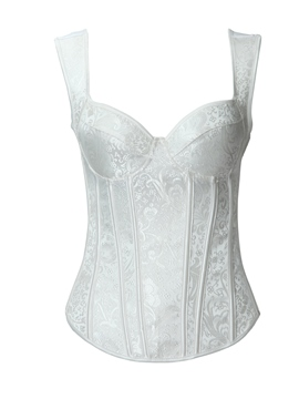 Ericdress Graceful White Floral Straps Corset