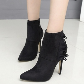 Eicdress Tassels Point Toe High Heel Boots