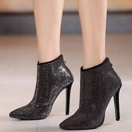 Ericdress Luxurious Rhinestone Point Toe High Heel Boots