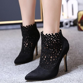Ericdress Point Toe Cut Out High Heel Boots