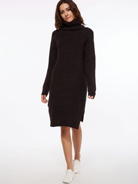 EricdressTurtleneck Pullover Sweater Dress