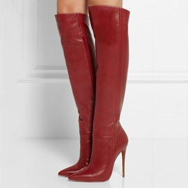 Ericdress Fashion Point Toe Stiletto Heel Thigh High Boots