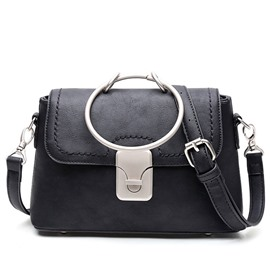 Ericdress Lastest Circle PU Shoulder Bag
