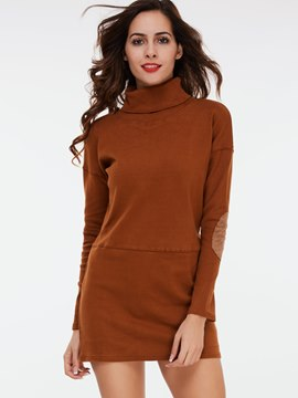 Ericdress Turtal Neck Long Sleeve T-Shirt