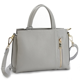 Ericdress Multifunction Gray Cowhide Handbag