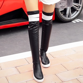Ericdress All Match Color Block Thigh High Boots