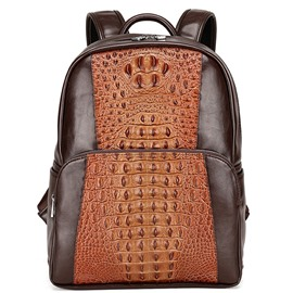 Ericdress Vintage Croco-Embossed Men's Backpack