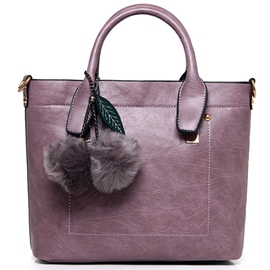Ericdress Elegant Thread Decorated Synthetic Leather Handbag