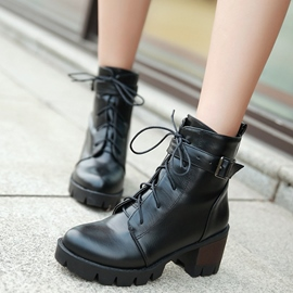 Ericdress Cool Round Toe Block Heel Ankle Boots