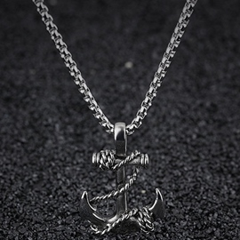 Ericdress Anchor Pendant Necklace For Men