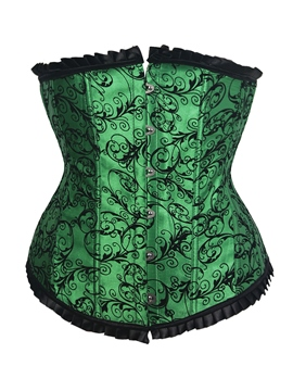 Ericdress Green Embroidery Button Corset