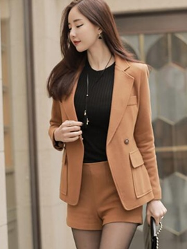 Ericdress One Button Notched Lapel Short Formal Suit