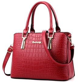 Ericdress Wild Croco-Embossed PU Handbag