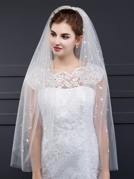 Ericdress Charming Beaded Bridal Veil