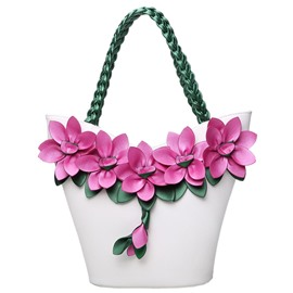 Ericdress Color Block Flower Knitted Handbag