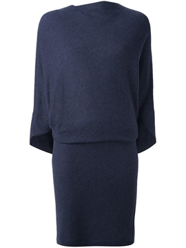 Ericdress Plain Back Zipper Patchwork Sweater Dress