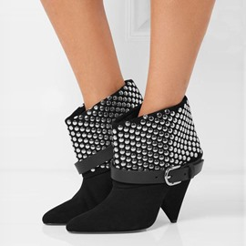 Ericdress Unique Rivets Point Toe High Heel Boots