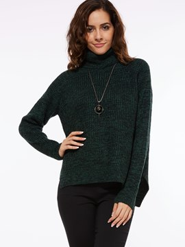 Ericdress Turtle Neck Plain Causual Knitwear