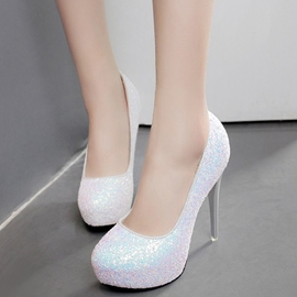 Ericdress Sequins Round Toe Platform Pumps