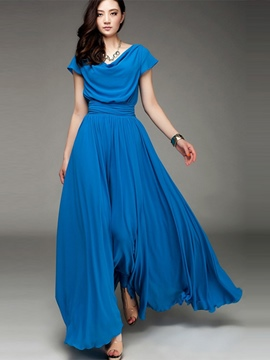 Ericdress Elegant Maxi Dress With Draped Neckline Maxi Dress
